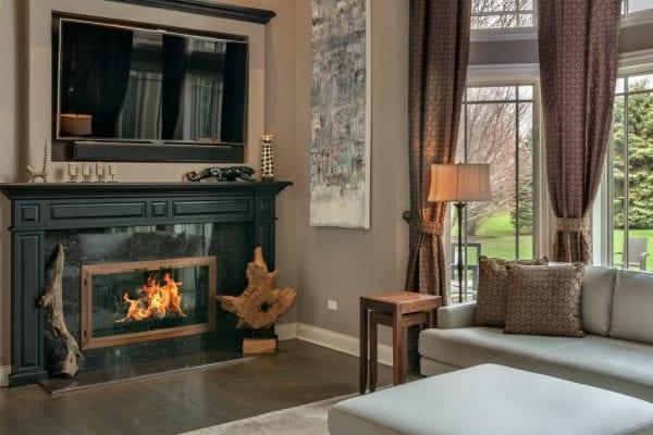 Fireplace w:Media Long Grove