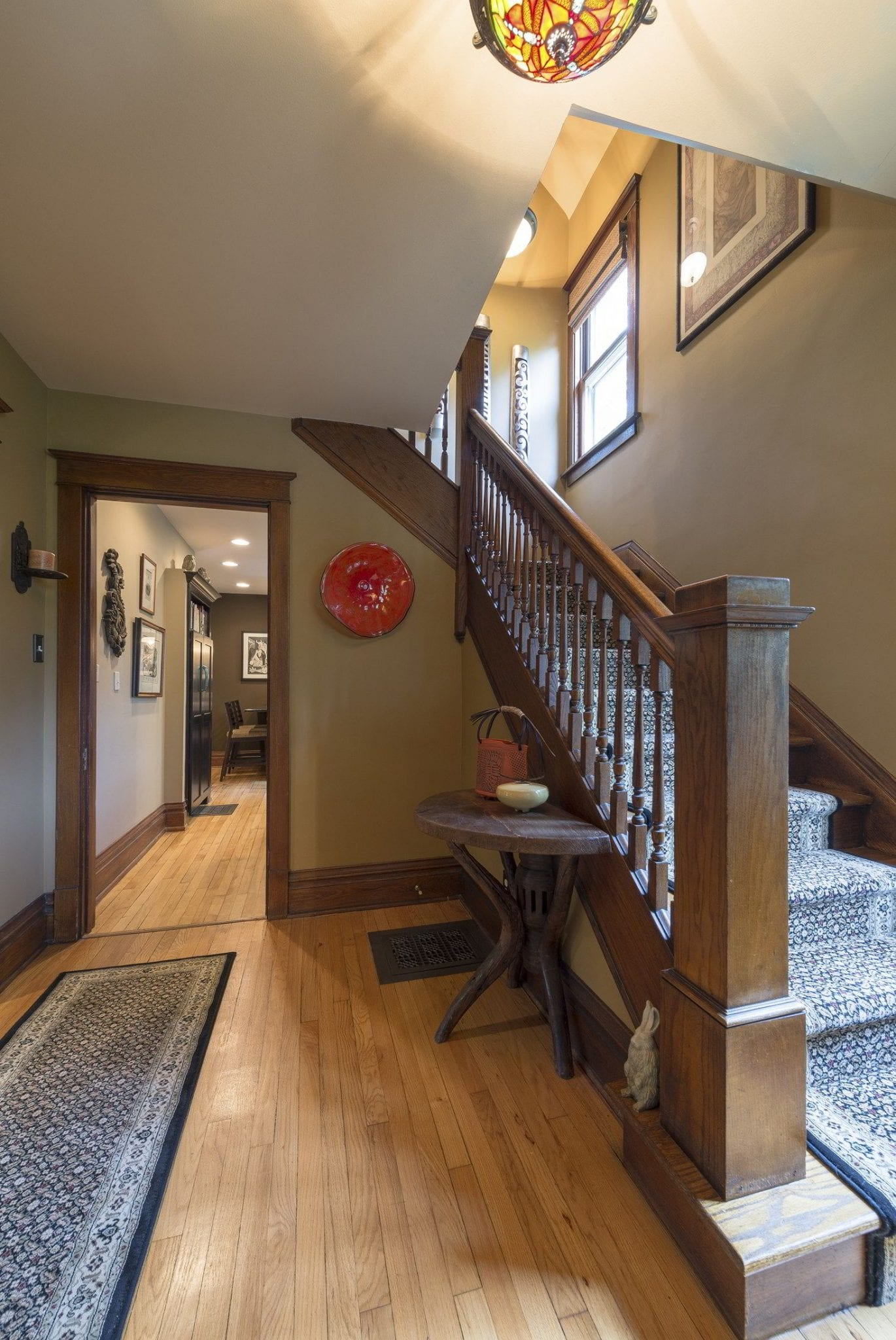 DF Design, Inc | Interior Designer | Craftsman style home foyer entrance