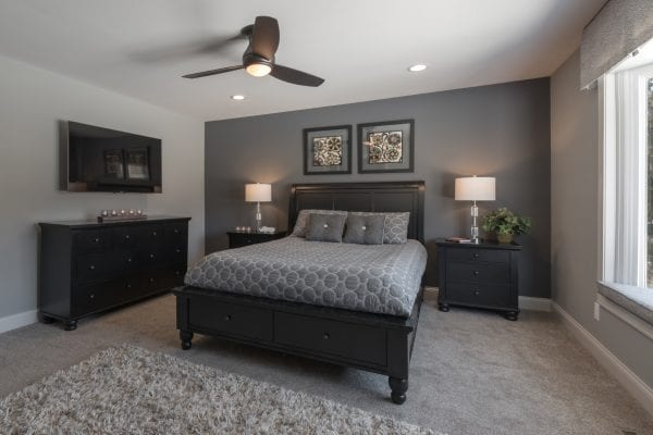 Crystal Lake Master Bedroom Interior Design
