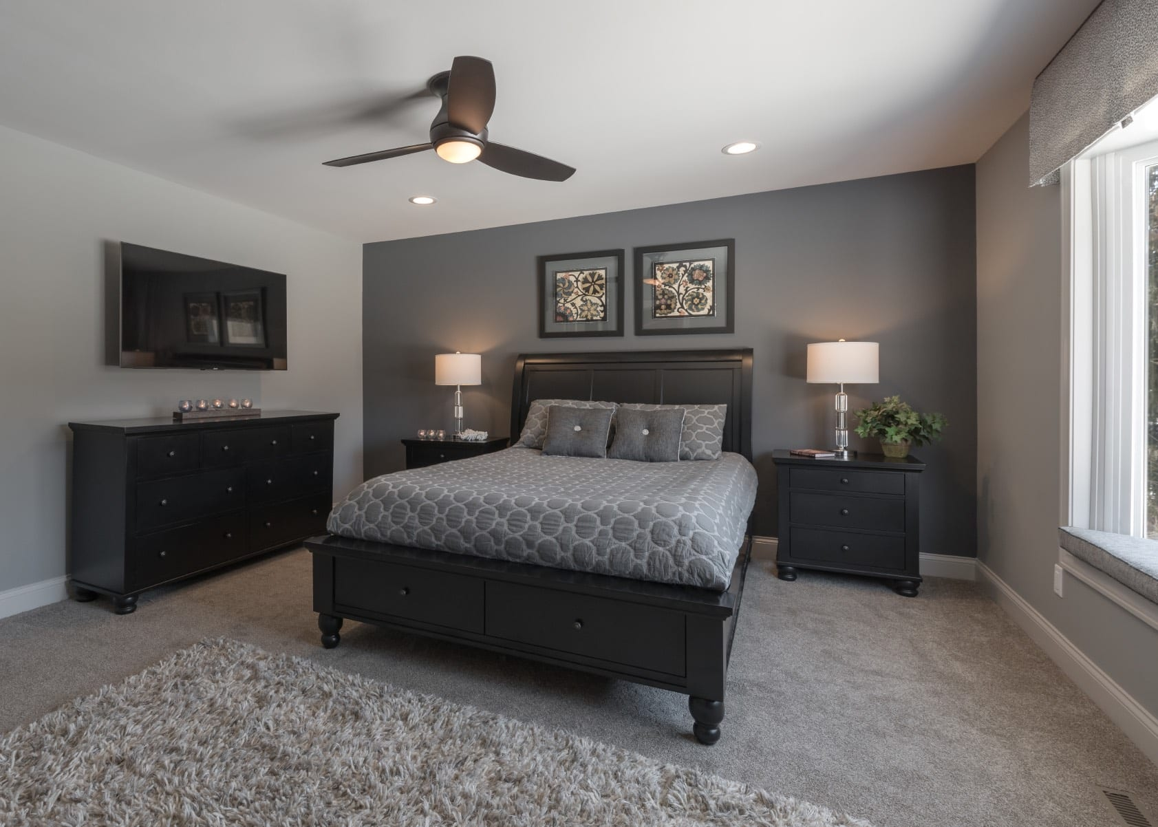 Crystal Lake Master Bedroom Interior Design