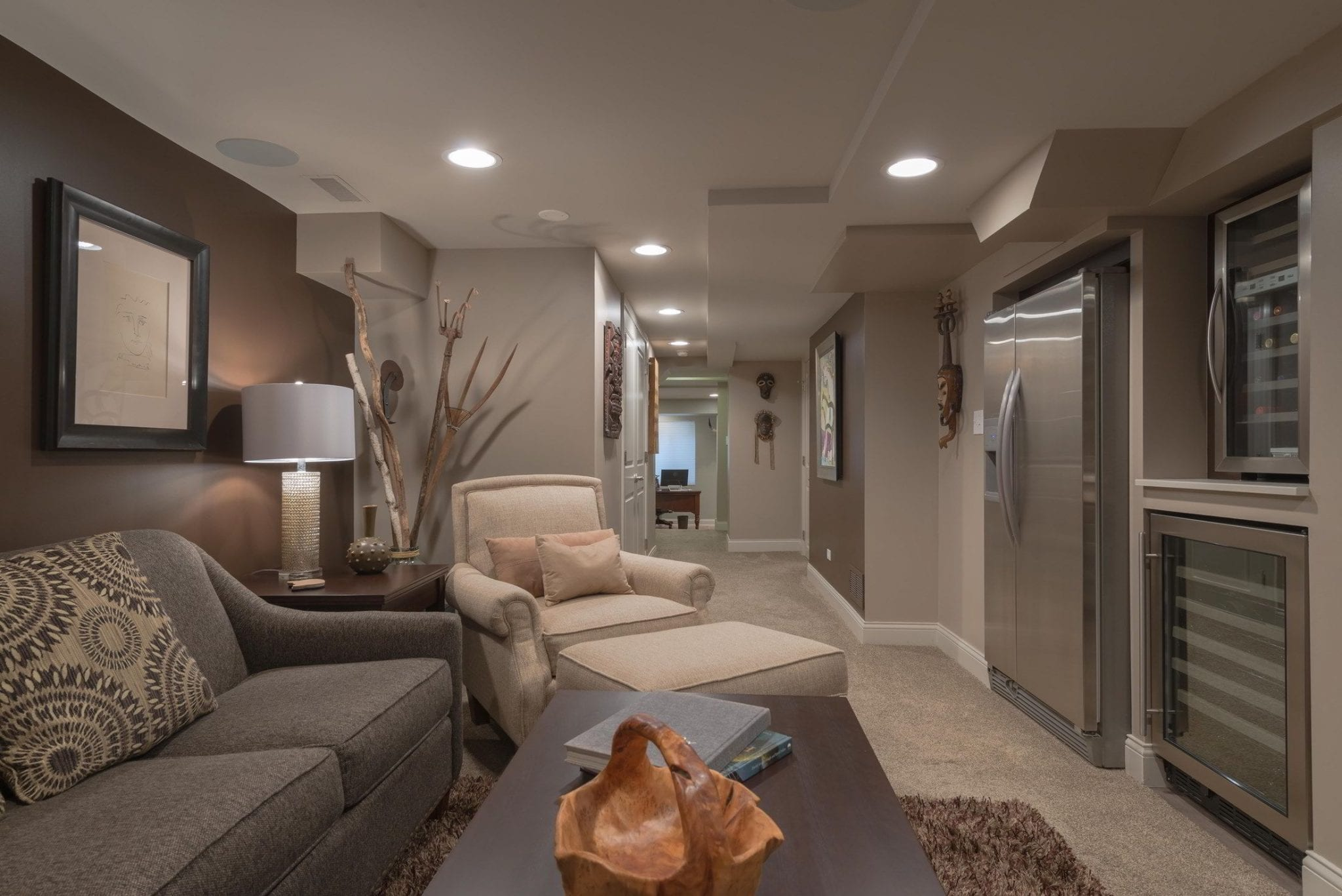 Basement Renovation - Color & Design Consultations | Custom Home Furnishing & Home Accessories