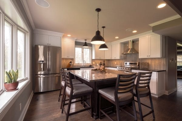 Custom Kitchen Design Kitchen Renovations with Dining Rooms Illinois