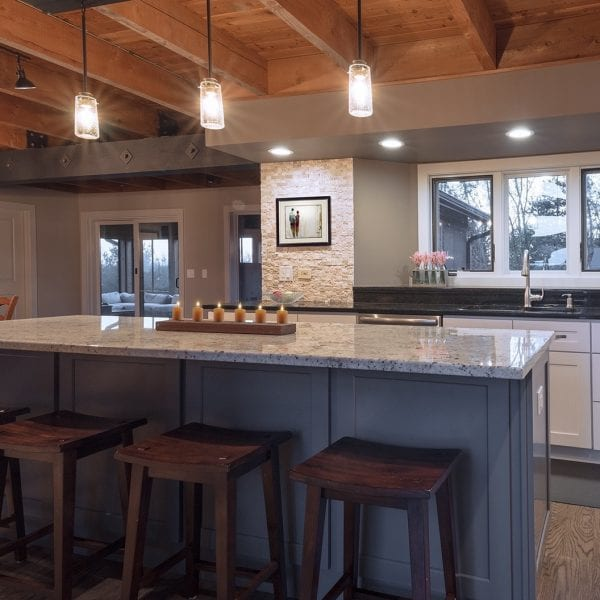 Rustic Gray Island Cabinetry