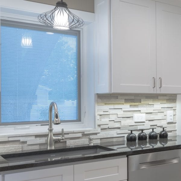 White Kitchen Sink & Backsplash