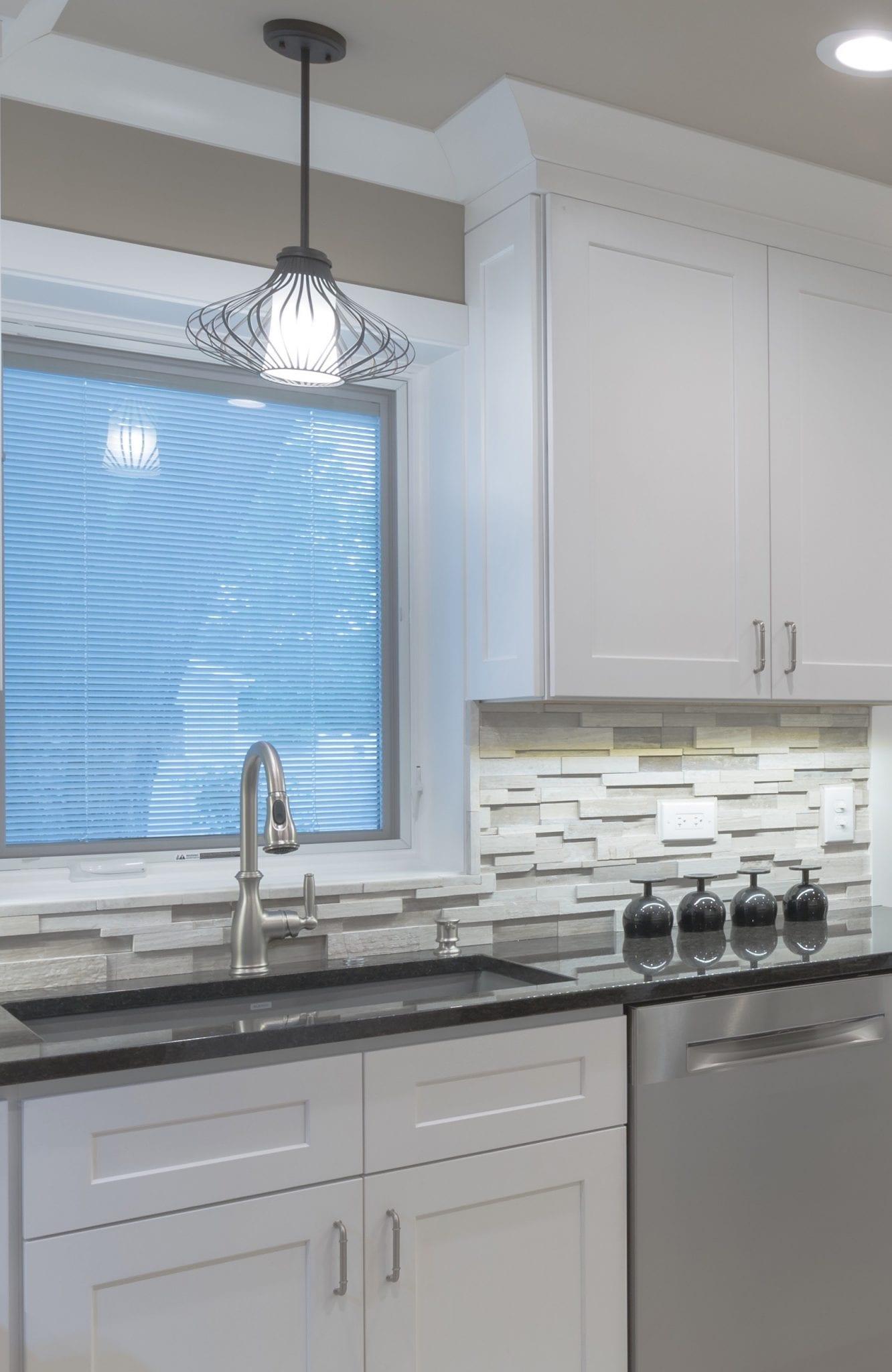 White Kitchen Sink & Backsplash