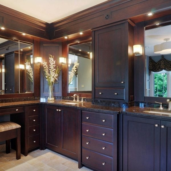Master Bathroom Custom Cabinetry | Interior Designer Custom Bathroom Renovation by DF Design, Inc.