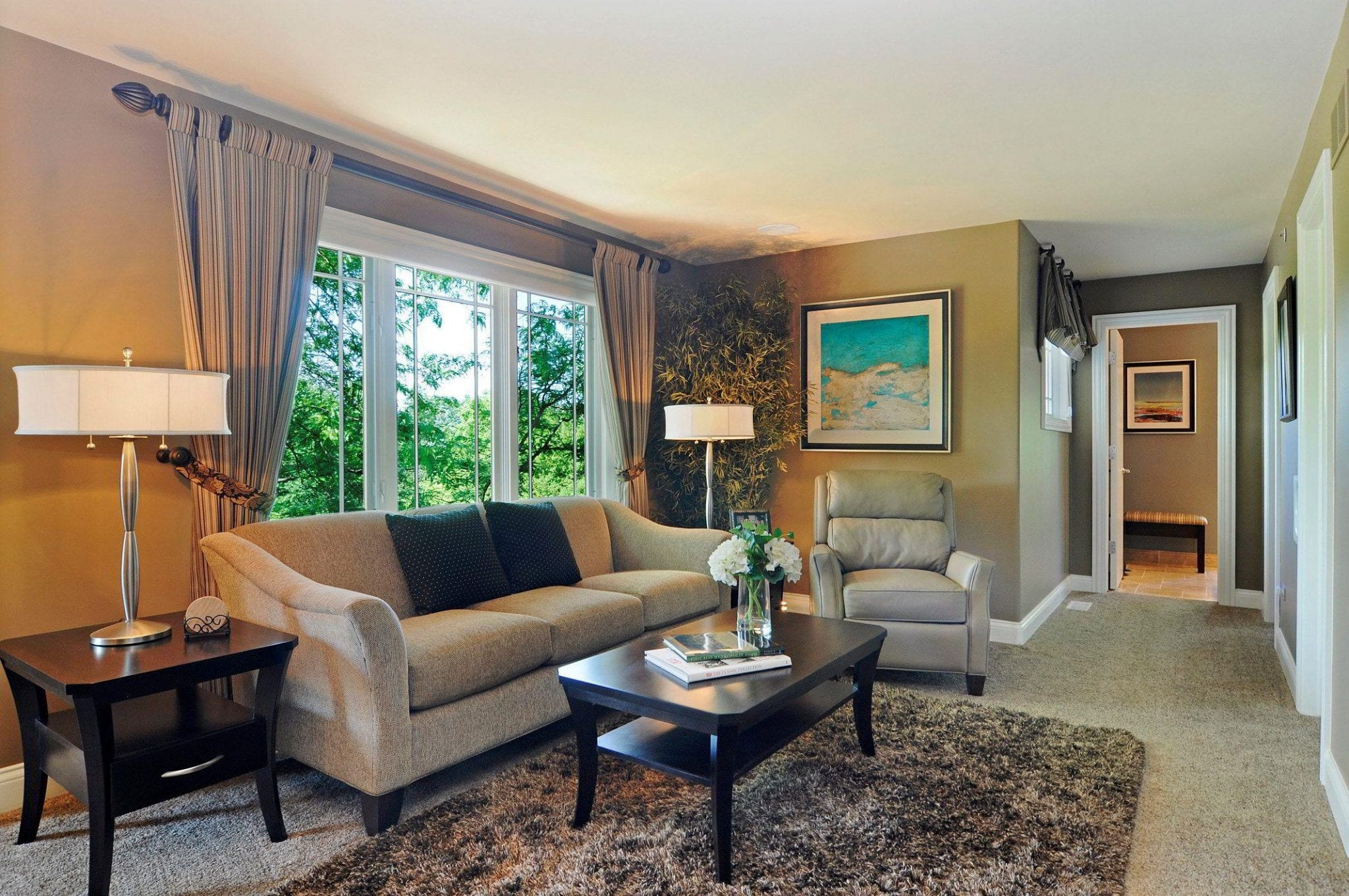 Master Bedroom suite with a dedicated living room was incorporated into this Master Bedroom Design
