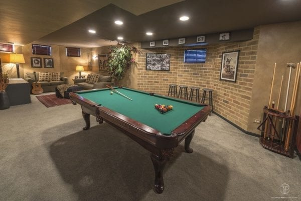 Basement Entertainment Room Interior Design and Build in Northern Illinois