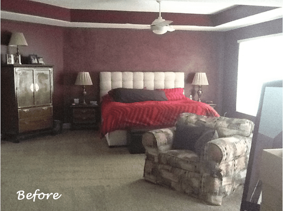 Master Bedroom Paint Color Selection Before and After
