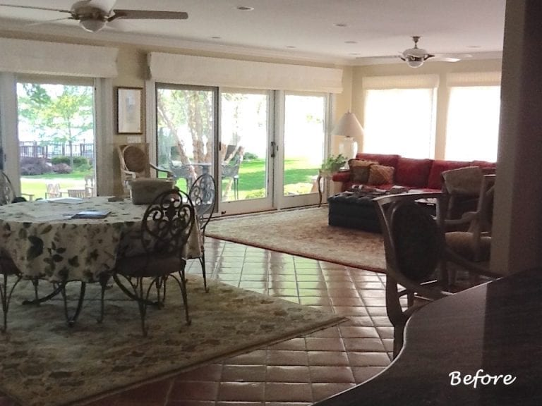 Family Room Furnishings Before and After South Barrington IL