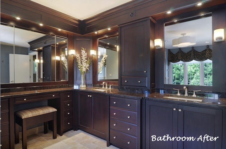 Bathroom Remodeling | Bathroom Cabinetry Design Before & After