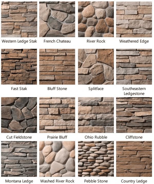 Home Exterior Stone Material
