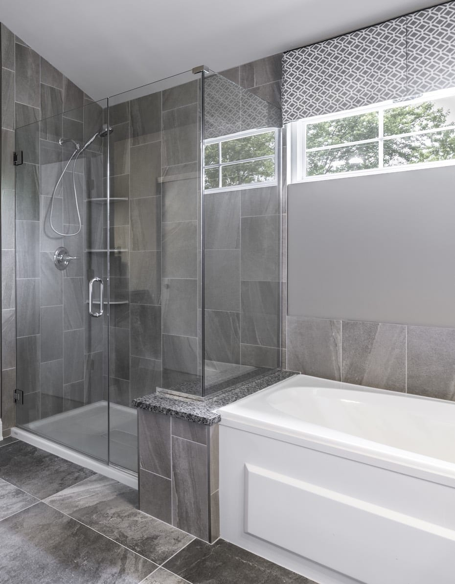 Master Bathroom Walk-In Shower Design Mundelein